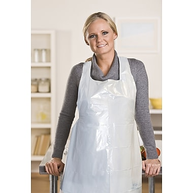 Royal Paper DA2442 Polyethylene Apron, White