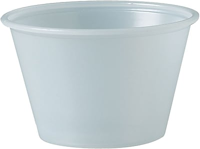 SOLO® P400 Plastic Souffle Portion Cup, Translucent, 4 oz., 2500/Pack