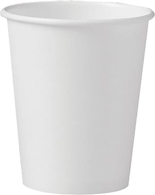 Solo Polycoated Hot Paper Cups, 10 Oz, White, 1000/CT