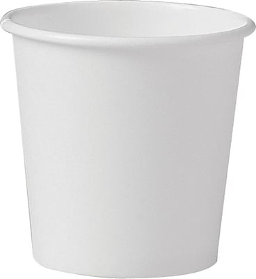 Solo Polycoated Hot Paper Cups, 4 Oz, White
