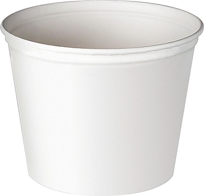 Double Wrapped Paper Bucket, Unwaxed, White, 53 Oz, 50/Pk