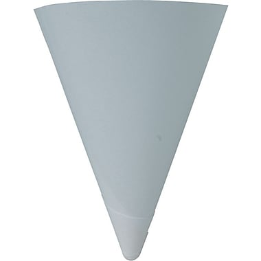 Solo® Rolled Rim Treated Paper Cone Water Cup, White, 4 oz