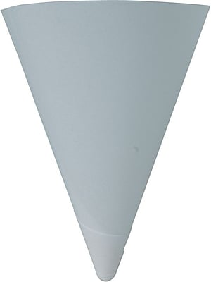 Solo Cone Water Cups, Cold, Paper, 4oz, White, 200/Bag, 25 Bags/Ct