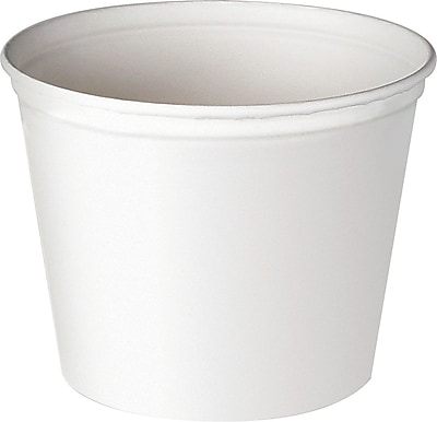 Double Wrapped Paper Bucket, Waxed, White, 83 Oz, 100/CT