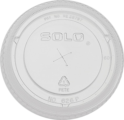 SOLO Bare Eco-Forward 626TS Pete Flat Cold Cup Lid, Clear, 24 oz., 1000/Case 654552