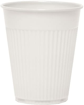 Solo Plastic Medical & Dental Cups, 5 Oz, White, Fluted, 1000 Cups/Ct
