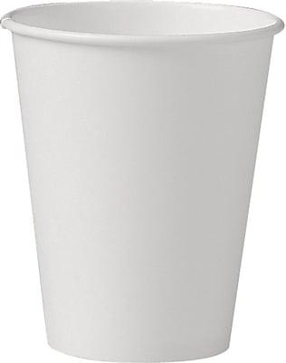 Uncoated Paper Cups, Hot Drink, 8oz, White, 1000/Carton U508NU