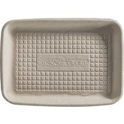 Chinet FADER Food Tray, Beige, 5/8 inch (H) x 8 inch (W) x 5 inch (D) by