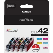 Canon CLI-42 C/M/Y/PC/PM Color Ink Cartridges (6385B010), Combo 5/Pack