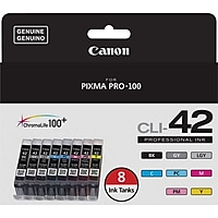 8-Pk Canon CLI 42 Value Color Combination Ink Cartridges Deals