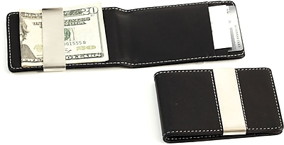 Bey-Berk BB181 Leather Wallet With Credit Card/ID Slots and Money Clip, Black