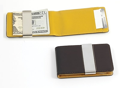 Bey-Berk BB181 Leather Wallet With Credit Card/ID Slots and Money Clip, Brown