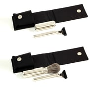 Bey-Berk Mach 3  Razor and Travel Badger Brush With Chrome Plated Finish in Black Canvas
