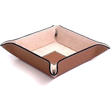 Bey-Berk Leather Snap Valet With Pig Skin Leather Lining, Taupe