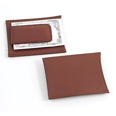 Bey-Berk Leather Magnetic Money Clip and Wallet, Brown