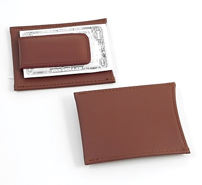 Bey-Berk BB501 Leather Magnetic Money Clip and Wallet, Brown