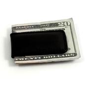 Bey-Berk Leather Magnetic  Money Clip, Black