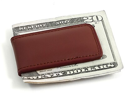 Bey-Berk Leather Magnetic Money Clip, Brown
