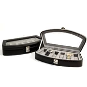 Bey-Berk Leather 6  Watch Case, Black