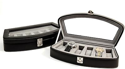 Bey-Berk BB520 Leather 6 Watch Case, Black