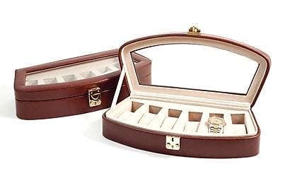 Bey-Berk Leather 6 Watch Case, Brown