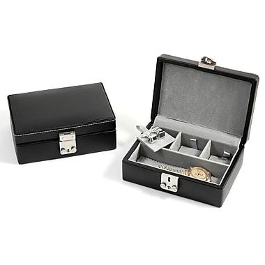 Bey-Berk Leather Jewelry Case, Black
