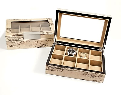 Bey-Berk Lacquered Exotic Ice Burl Wood 8 Watch Case