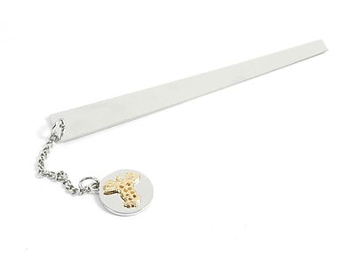 Bey-Berk BB76 Chrome Plated Brass Bookmark With Charm, Medical