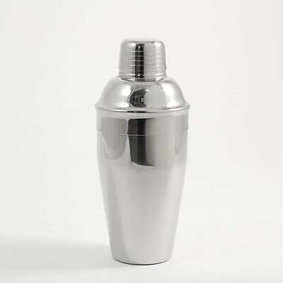 Bey-Berk Stainless Steel Martini Shaker With Strainer Top, 18 oz.