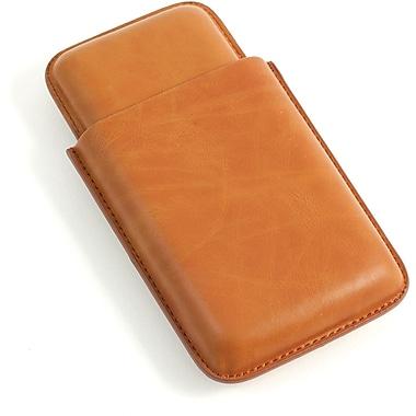 Bey-Berk Leather 3 Cigar Case, Tan (C233T)