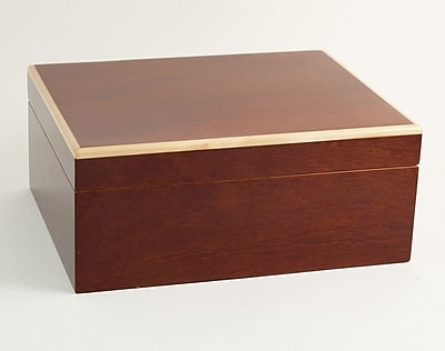 Bey-Berk C402 Lacquered Burl Wood 60 Cigar Humidor