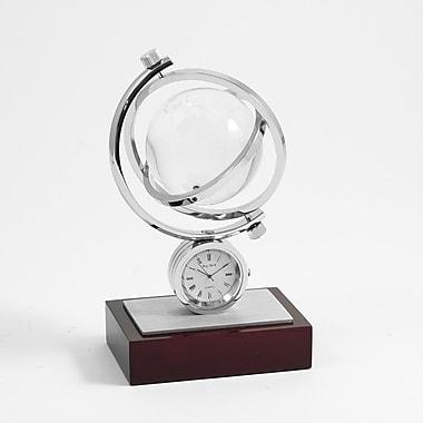 Bey-Berk Mahogany Base Austin Globe Gyro Quartz Clock
