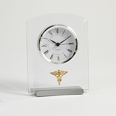 Bey-Berk Beveled Glass Quartz Clock, Dental