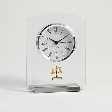Bey-Berk Beveled Glass Quartz Clock, Legal