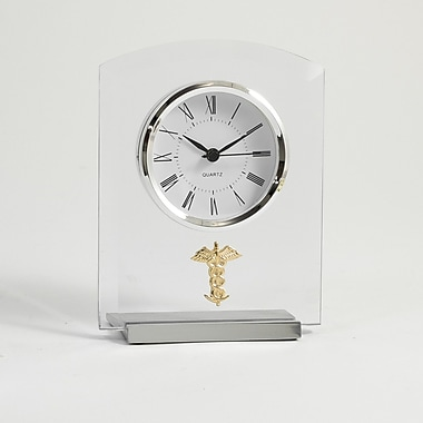 Bey-Berk Beveled Glass Quartz Clock, Medical