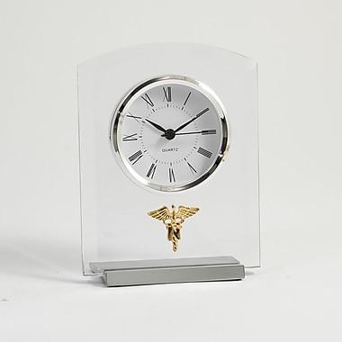 Bey-Berk Beveled Glass Quartz Clock, Nursing