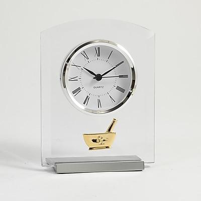 Bey-Berk Beveled Glass Quartz Clock, Pharmacy