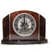 Bey-Berk Piano Finish  Walnut Wood Cairo Clock With Skelton Movement