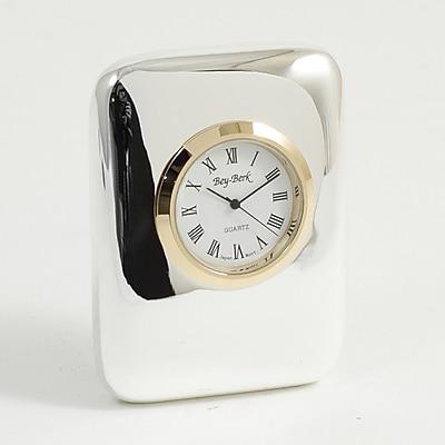 Bey-Berk Chicago CM920 Analog Table Clock, Silver
