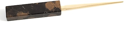Bey-Berk D010 Gold Plated Letter Opener With Marble Handle