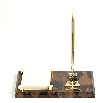 Bey-Berk Gold Plated Memo Pad Holder, Legal