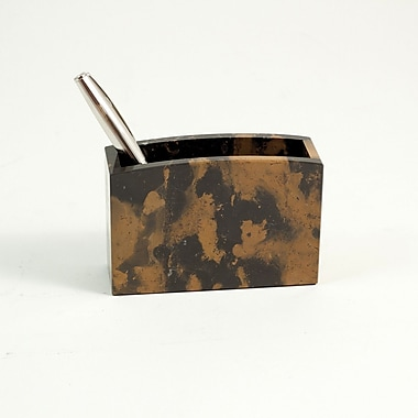 Bey-Berk Pencil Box, Black and Brown