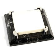 Bey-Berk Post-Itc Holder,  Black Zebra Marble With Chrome Plated