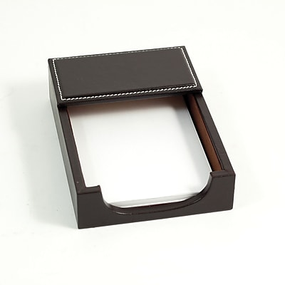 "Bey-Berk D1212 Leather Memo Holder, 4""(L) x 6""(W), Coco Brown"