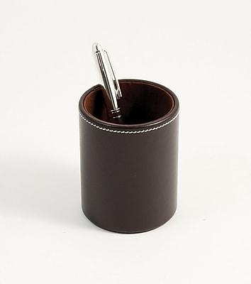 Bey-Berk Leather Pencil Box, Coco Brown