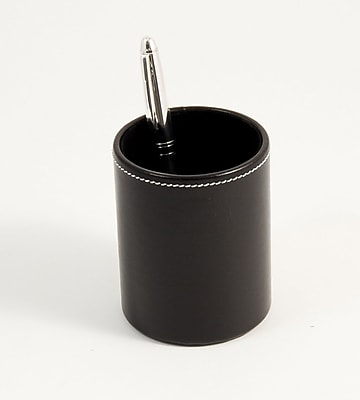 Bey-Berk D1321 Leather Pencil Cup Holder, Black