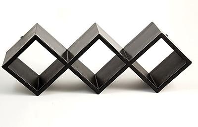 Bey-Berk CD Rack, Black Leather