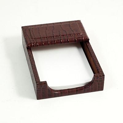 Bey-Berk Debossed Croco Leather Memo Holder, 4