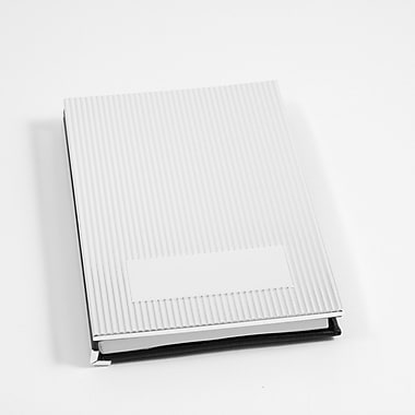 Bey-Berk Personal Note Book With Silver Cover, Black Leather Back