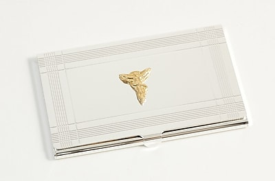 Bey-Berk Chiropractor Business Card Case, Silver Plated 155357